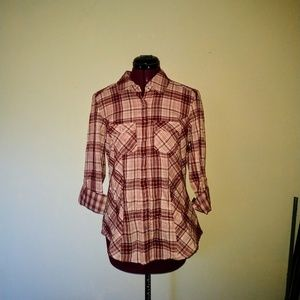 Style & Co NWOT Shirt Snap Front Roll Tab Sleeves